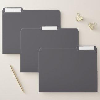 Geschwärzte Perlen-Grau-Farbe Papiermappe