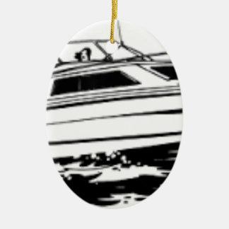 Geschwindigkeits-Boots-Kreuzer Ovales Keramik Ornament