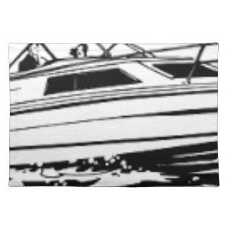 Geschwindigkeits-Boots-Kreuzer Tischset