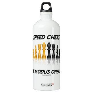 Geschwindigkeits-Schach ist mein Modus- Aluminiumwasserflaschen