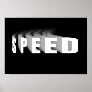 Geschwindigkeits-Text mit dem Poster