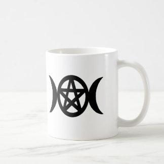 Gesegnet seien Sie Pentagramm-dreifache Kaffeetasse