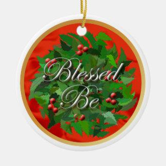 Gesegnet seien Sie Weihnachten-Verzierung Keramik Ornament