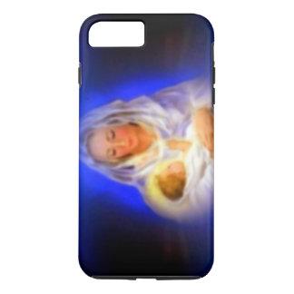 Gesegnete Jungfrau Mary mit Halo in den Wolken iPhone 7 Plus Hülle