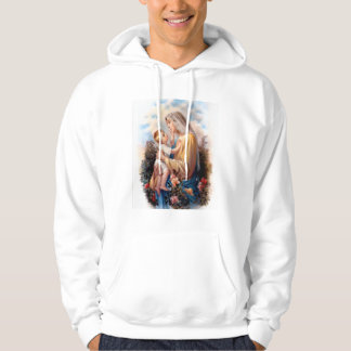 Gesegnete Jungfrau Mary und Säuglings-Kind Jesus Hoodie