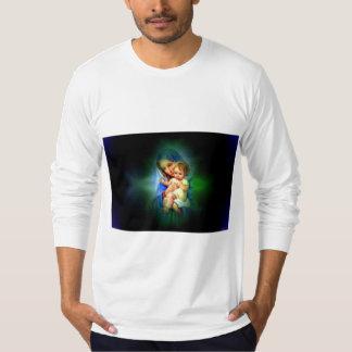 Gesegnete Jungfrau Mary und Säuglings-Kind Jesus T-Shirt