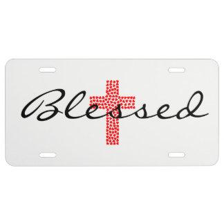 Gesegnete rote Herz-Gegenlizenz-Platte US Nummernschild