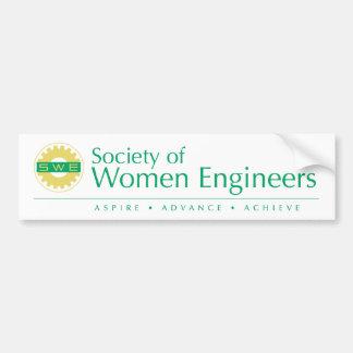 Gesellschaft des Frauen-Ingenieur-Autoaufklebers Autoaufkleber