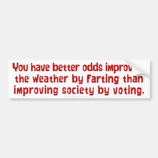 Gesellschaft durch die Abstimmung des Autoaufkleber