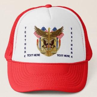 Gesetzesgerechtigkeits-Hut sehen Anmerkung Truckerkappe