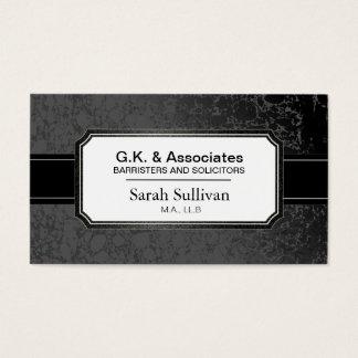 GesetzesVisitenkarte - schwarzer stilvoller Visitenkarte