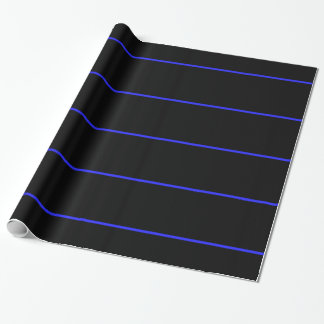Gesetzesvollstreckung-Polizei verdünnt Blue Line Geschenkpapier