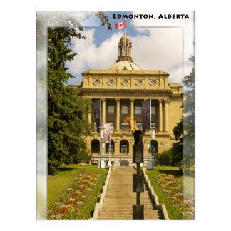 Gesetzgebungspostkarte Edmontons Alberta Postkarte