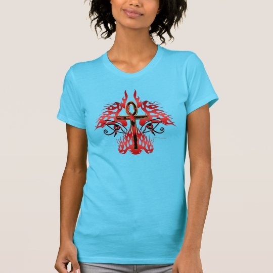 Gesicht des Ankh Damen-Nano-T - Shirt