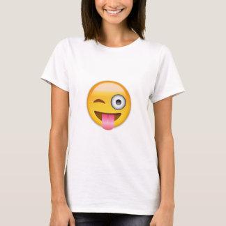 Gesicht mit festem lecken heraus auf und Auge T-Shirt