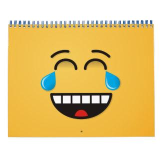 Gesicht mit Rissen der Freude Kalender