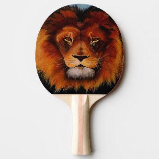 Gesicht von einem Löwerealistischen gemalt Tischtennis Schläger