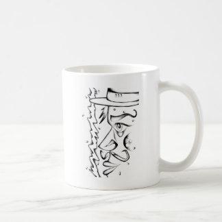 Gesicht, welches die Skizzekunst handgemacht Kaffeetasse