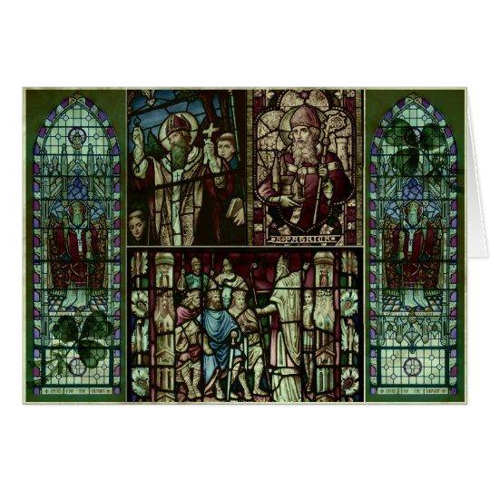 Gesichter von Heiligem Patrick Grußkarte
