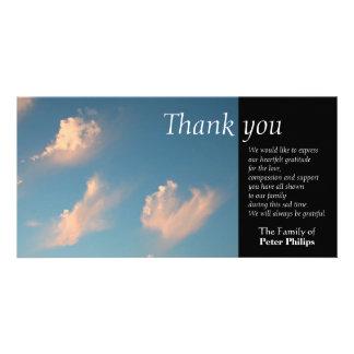 Gesichts-Wolke 1 - Beileid danken Ihnen Fotokarte