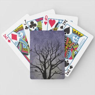 Gespenstische Baum-Halloween-Drucke Bicycle Spielkarten