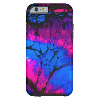 Gespenstische Bäume in der Abends-Acryl-Kunst Tough iPhone 6 Hülle