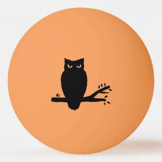 Gespenstische Eulen-Silhouetten Tischtennis Ball