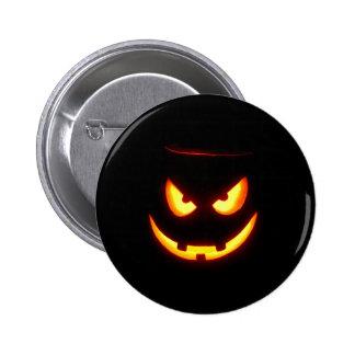 Gespenstische Kürbislaterne Runder Button 5,1 Cm
