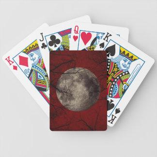 Gespenstische Mond-Halloween-Drucke Bicycle Spielkarten