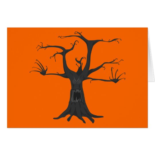 Gespenstischer Baum Grußkarte
