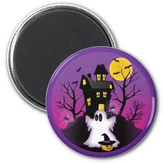 Gespenstischer Halloween-Geist Runder Magnet 5,1 Cm