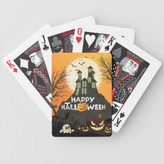 Gespenstischer Spuk Haus-Kostüm-Nachthimmel Bicycle Spielkarten