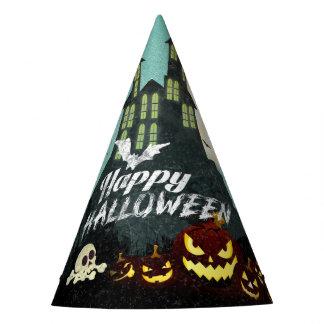 Gespenstischer Spuk Haus-Kostüm-Nachthimmel Partyhütchen