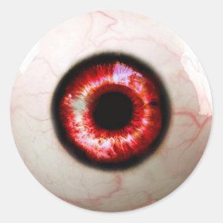Gespenstisches Auge - Halloween Runder Aufkleber