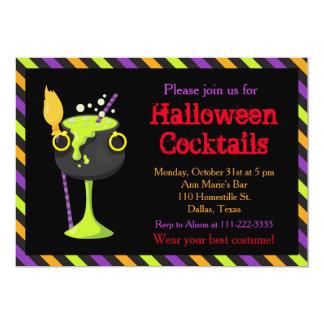 Gespenstisches Cocktail-Party Halloweens Karte