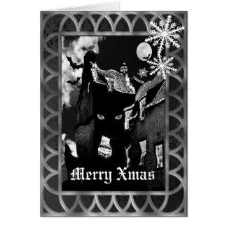 Gespenstisches gotisches schwarzes Weihnachten Karte