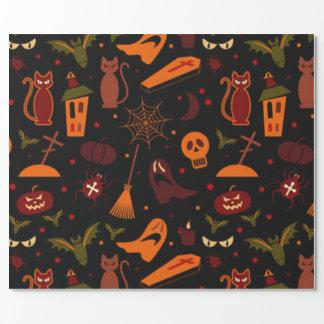Gespenstisches Halloween-Muster Geschenkpapier