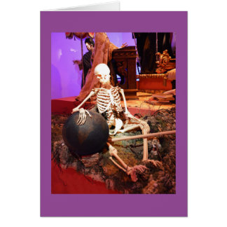 Gespenstisches Skelett Karte
