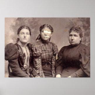 Gespenstisches Spuk Familien-Porträt Halloweens Poster