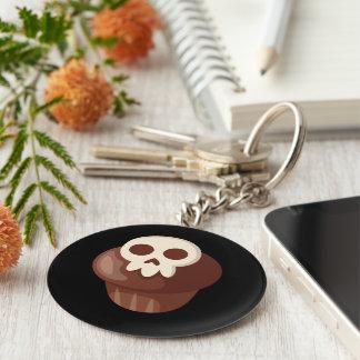 Gespenstisches u. niedliches Skele-Muffin Schlüsselanhänger