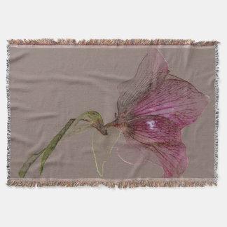 Gesponnener Throw-Decken-Blumen-EntwurfHellebore Decke