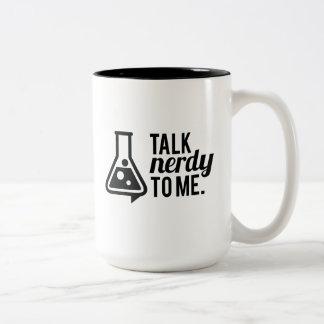 Gespräch Nerdy Zweifarbige Tasse
