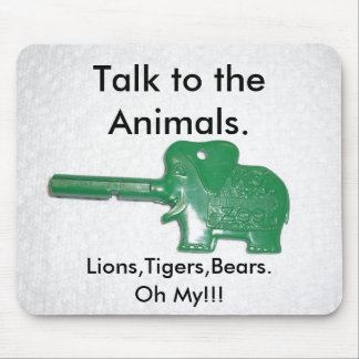 Gespräch zu den Tieren Mauspad