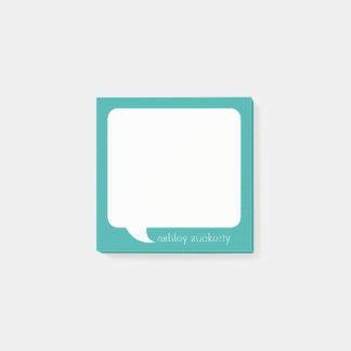 Gesprächs-Blasen-personalisierter Name - KANN Post-it Klebezettel