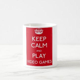 Gestaltung Keep Calm zerteilt Gamer - Tasse