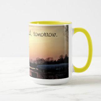 Gestern sagten Sie morgen Motivationskaffee-Tasse Tasse
