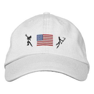 Gestickte Kappe Lacrosse-Vereinigter Staaten