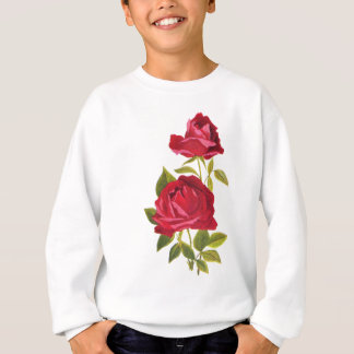 Gestickte Rote Rosen Sweatshirt