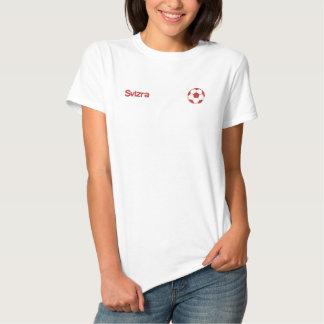 Gestickte Shirts des Svizra Fußbalballs Besticktes Damen Polo Shirt