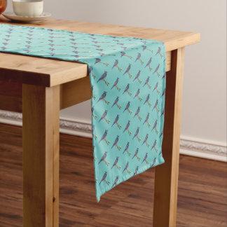 Gestickter Blauhäher-Tabellen-Läufer Kurzer Tischläufer